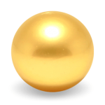 Loose Round Golden South Sea Pearls